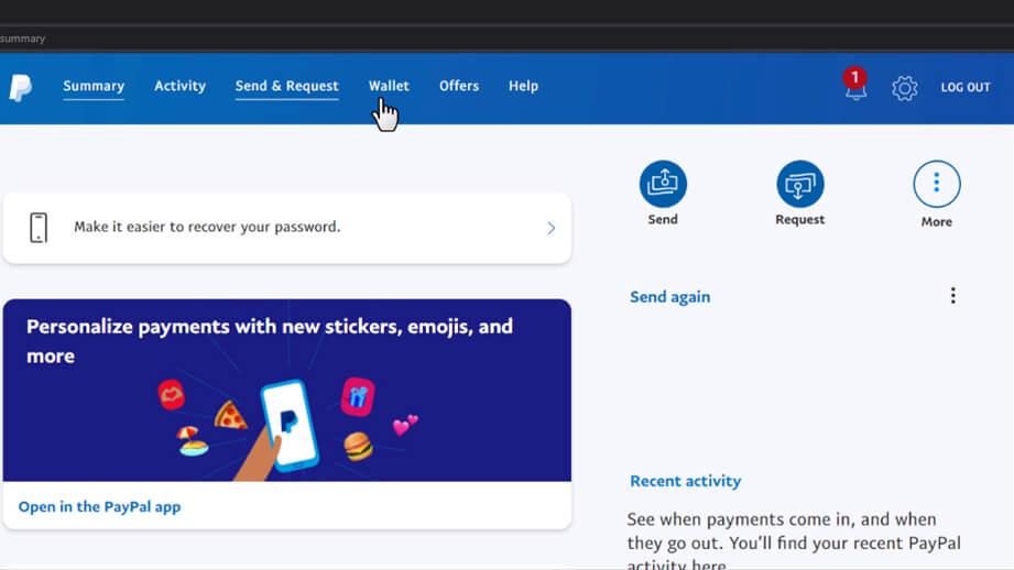 Paypal no all tools menu